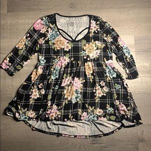 Torrid super soft knits tunic floral